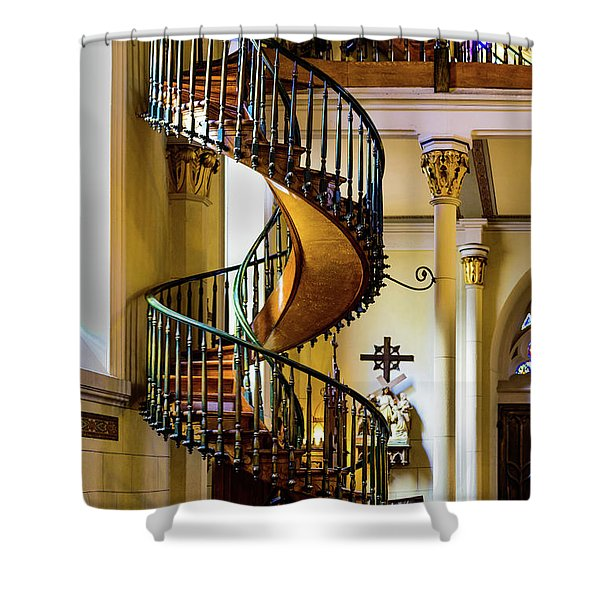 The Miraculous Stairway - Loretto Chapel - Santa Fe - New Mexico Shower Curtain