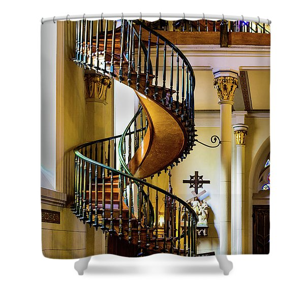 Loretto Chapel Shower Curtains Pixels