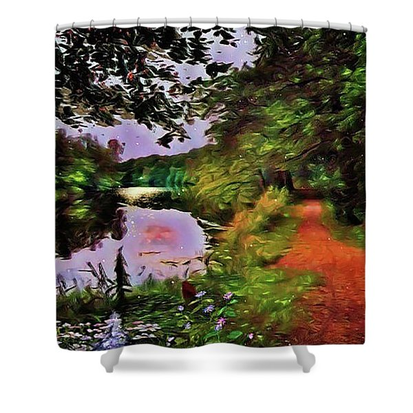 The Mirror Lakes Shower Curtain
