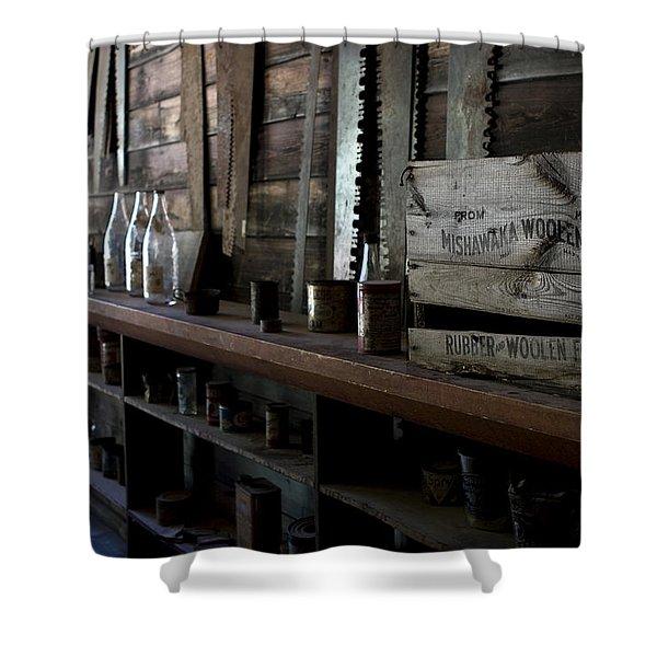 The Mishawaka Woolen Bar Shower Curtain