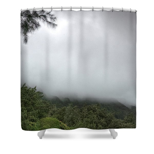 Shower Curtain featuring the photograph The Mist On The Mountain by Break The Silhouette
