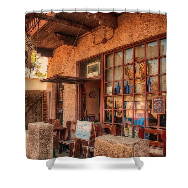 The Monk's Vineyard Shower Curtain