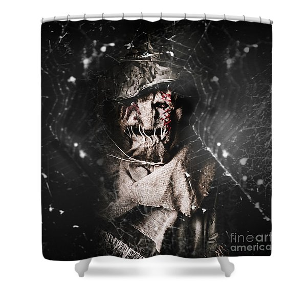 The Monster Scarecrow Shower Curtain
