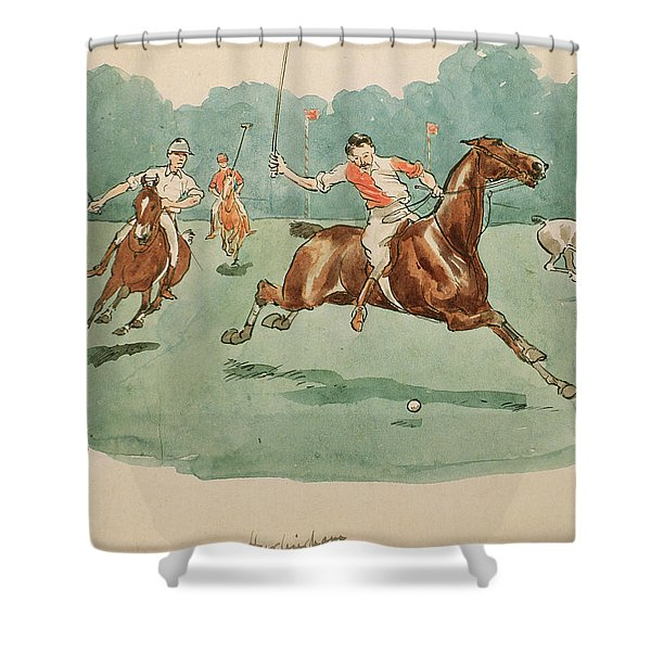 The Month Of June  Polo Shower Curtain