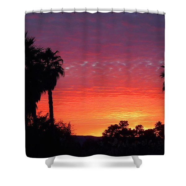 The Moody Views Shower Curtain