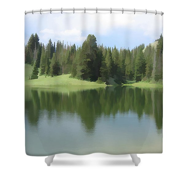 The Morning Calm Shower Curtain