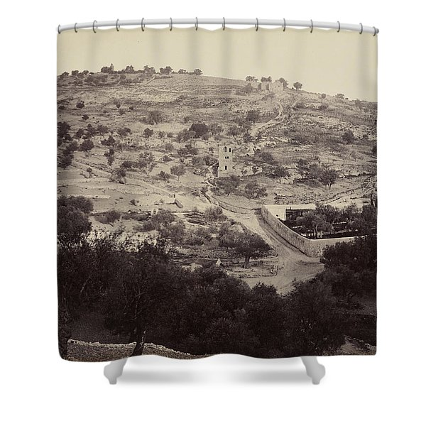 The Mount Of Olives And Garden Of Gethsemane Shower Curtain