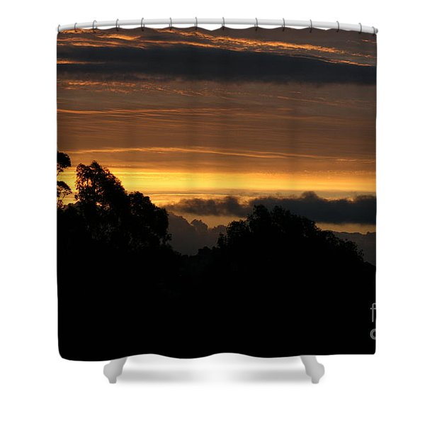 Shower Curtain featuring the photograph The Mountain At Sunrise by Cynthia Marcopulos