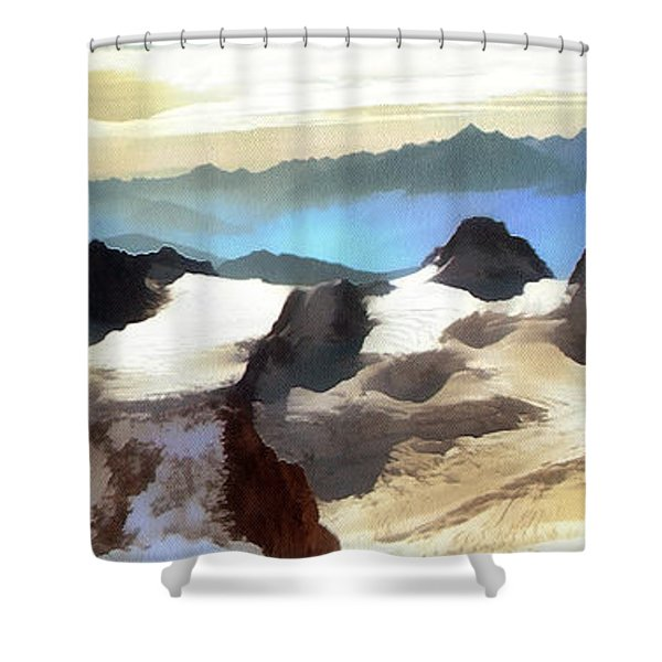 The Mountain Paint Shower Curtain