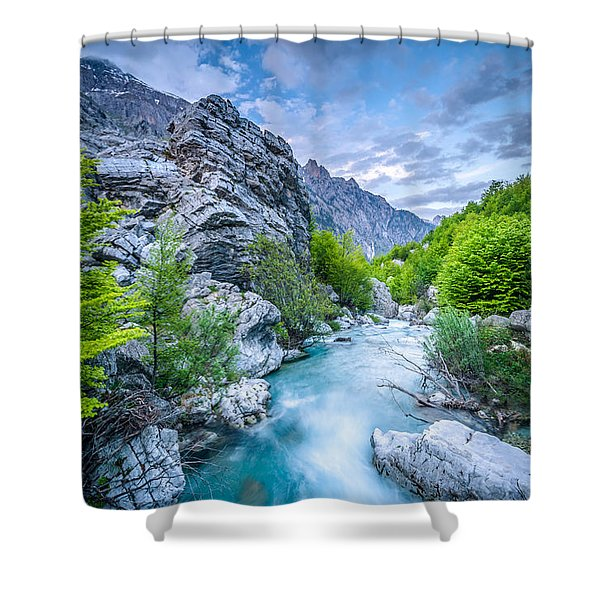 The Mountain Spring Shower Curtain