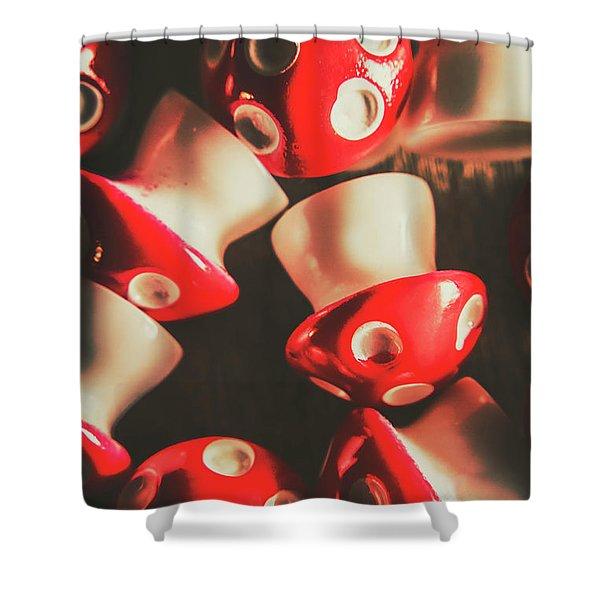 The Mushroom Stack Shower Curtain