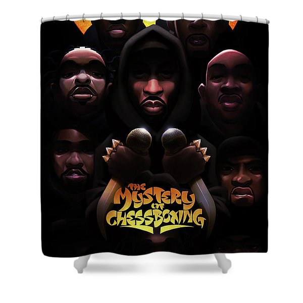 The Mystery Of Chessboxing Shower Curtain