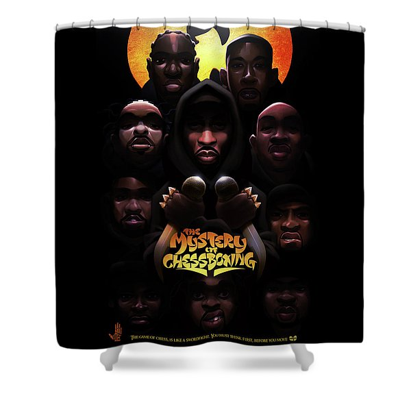 Shower Curtain featuring the digital art The Mystery Of Chessboxing by Nelson dedosGarcia