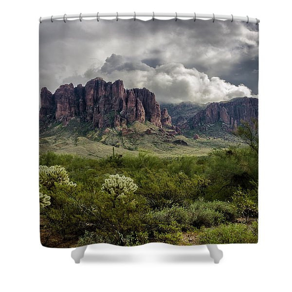The Mystic Mountain  Shower Curtain