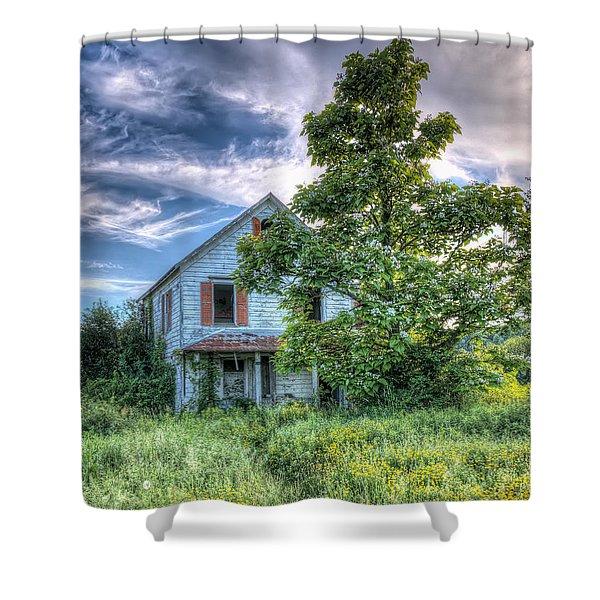 The Nathaniel White Farm House Shower Curtain
