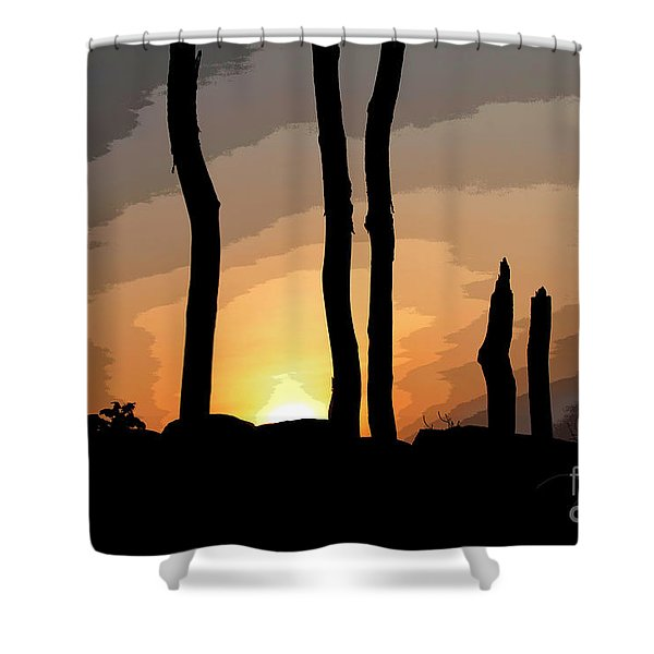 The New Dawn Shower Curtain