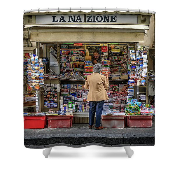 The News Zone Shower Curtain