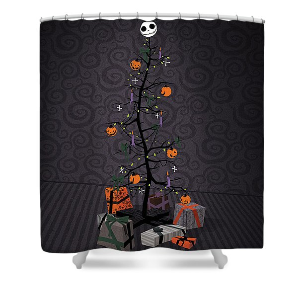 The Nightmare Before Christmas Alternative Poster Shower Curtain