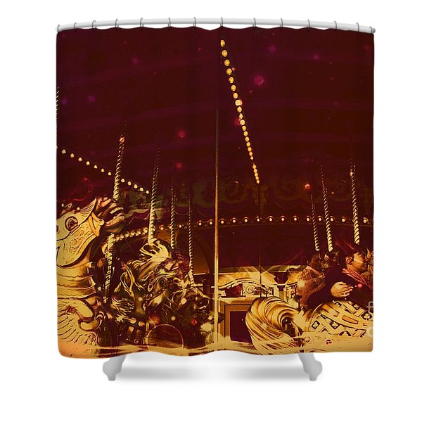 The Nightmare Carousel 12 Shower Curtain