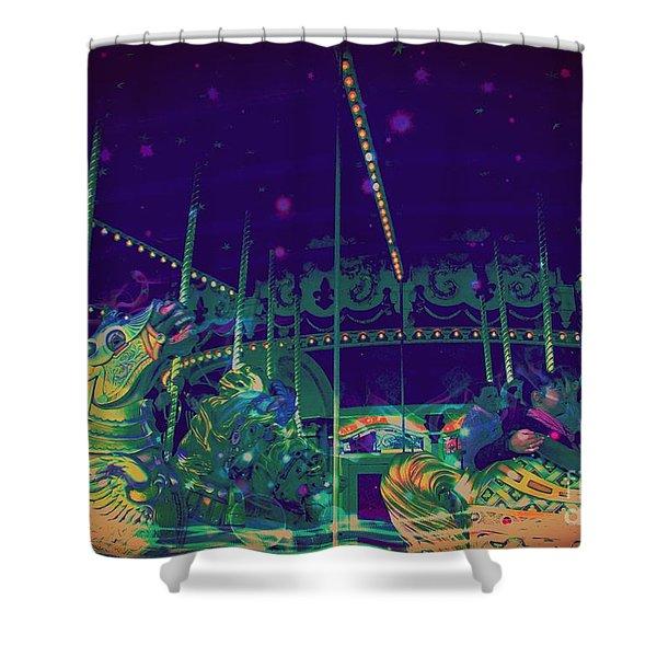 The Nightmare Carousel 20 Shower Curtain