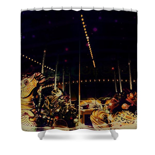 The Nightmare Carousel 5 Shower Curtain