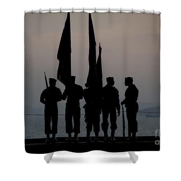 The Nimitz-class Aircraft Carrier  Shower Curtain