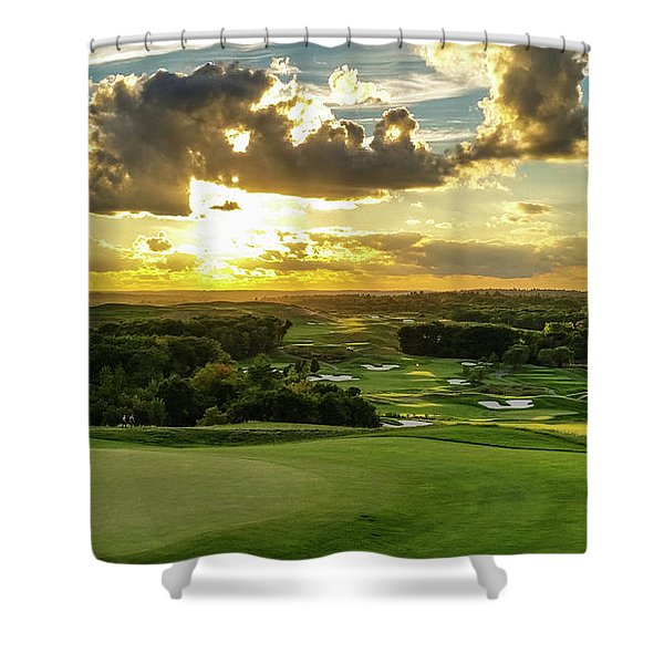 The Ninth Hole II Shower Curtain