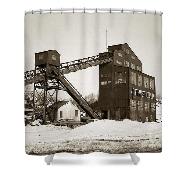 The Northwest Coal Company Breaker Eynon Pennsylvania 1971 Shower Curtain