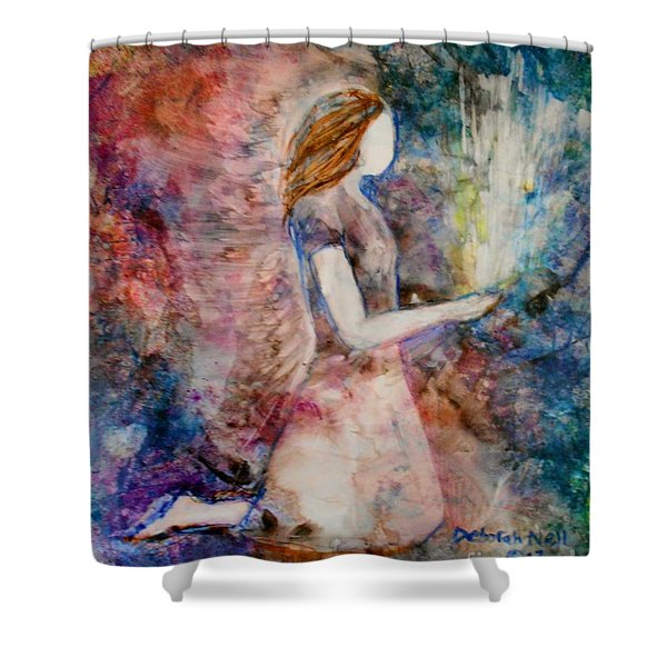Shower Curtain featuring the painting The Offering by Deborah Nell