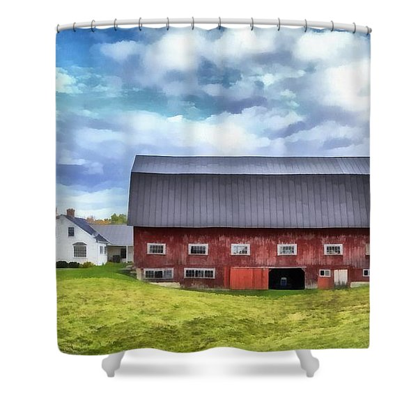 The Old Dairy Barn Etna New Hampshire Shower Curtain