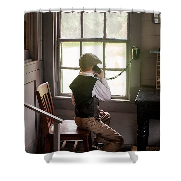The Old Days Shower Curtain