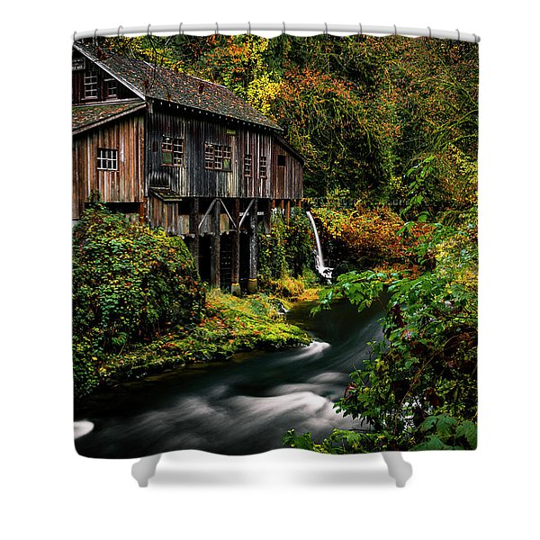 The Old Flour Mill Shower Curtain
