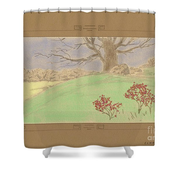 The Old Gully Tree Shower Curtain