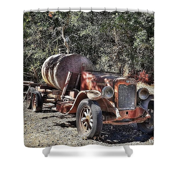 The Old Jalopy In Wine Country, California  Shower Curtain