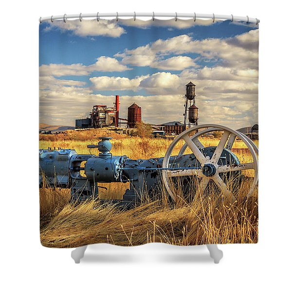 The Old Lumber Mill Shower Curtain