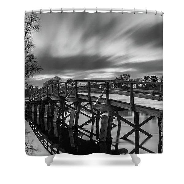 The Old North Bridge Shower Curtain