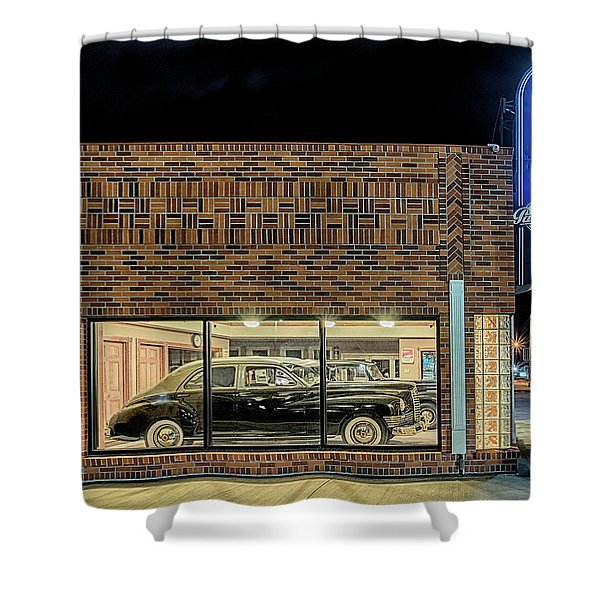 The Old Packard Dealership Shower Curtain