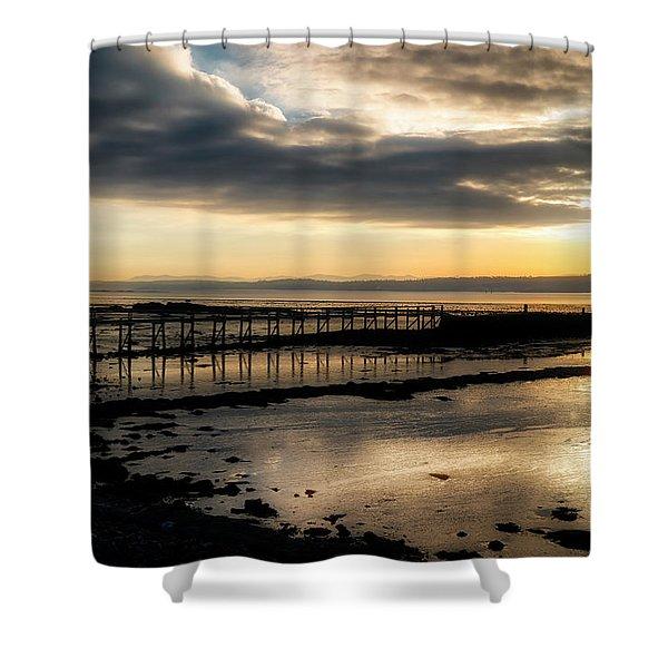 The Old Pier In Culross, Scotland Shower Curtain