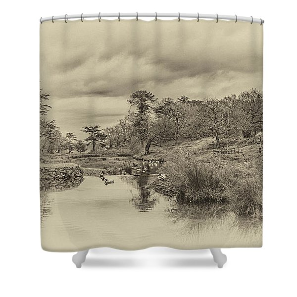 Shower Curtain featuring the photograph The Old Pond by Nick Bywater