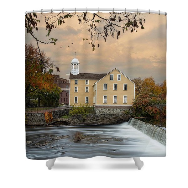 The Old Slater Mill Shower Curtain