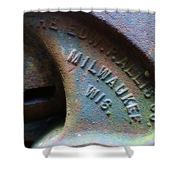 The Old Stamp Mill- Findley Mine Shower Curtain