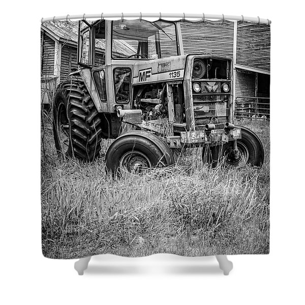 The Old Tractor By The Old Round Barn II Shower Curtain