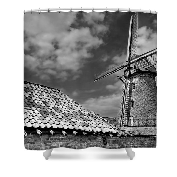 The Old Windmill Shower Curtain