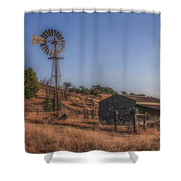 Shower Curtain featuring the photograph The Old Windmill by Break The Silhouette
