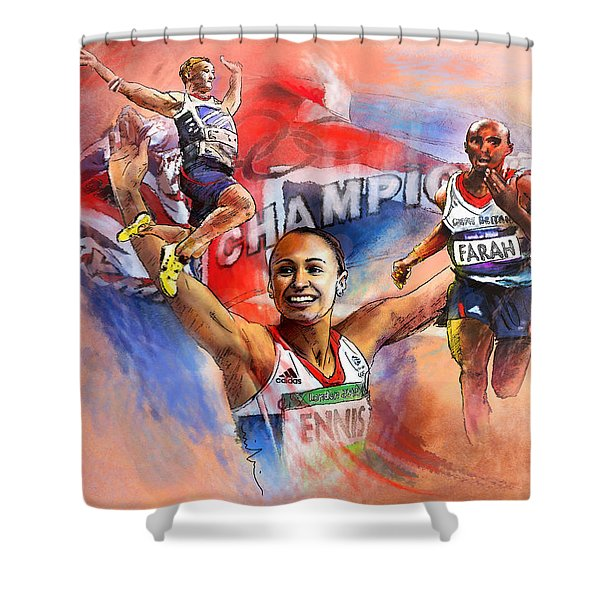 The Olympics Night Of Gold Shower Curtain
