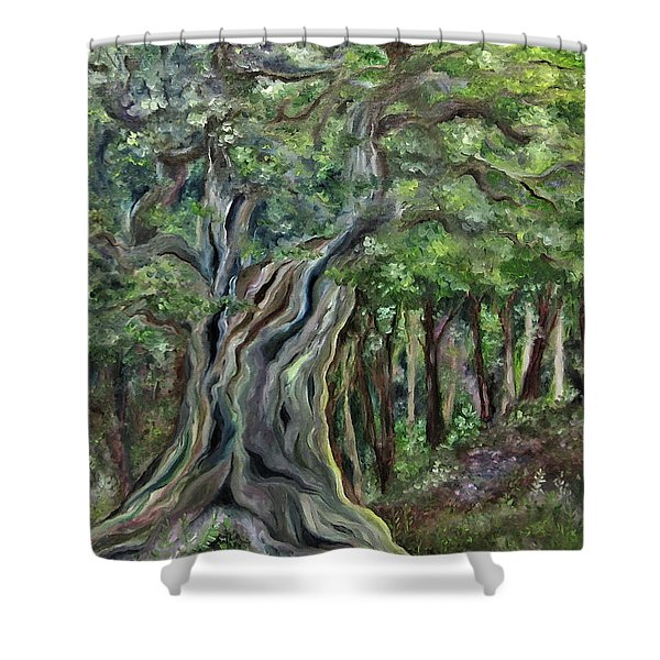 The Om Tree Shower Curtain