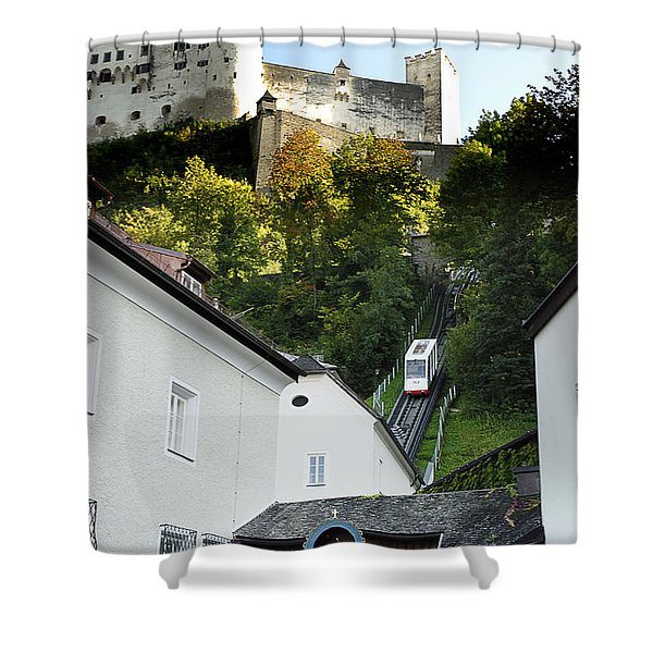 Between Church And Castle Shower Curtain