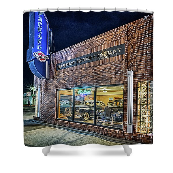The Orphan Motor Company Shower Curtain