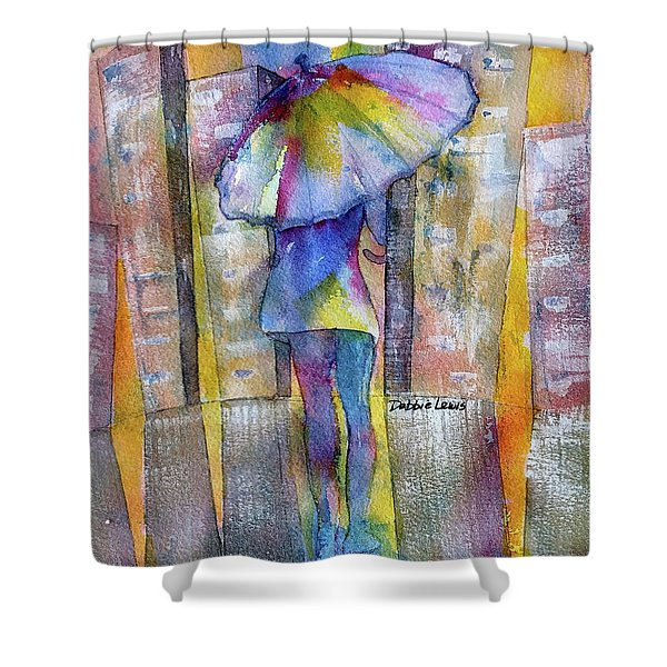 The Other Girl In The City Shower Curtain