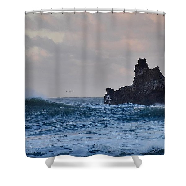 The Pacific Ocean Shower Curtain
